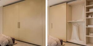 armadio complanare chiuso e aperto